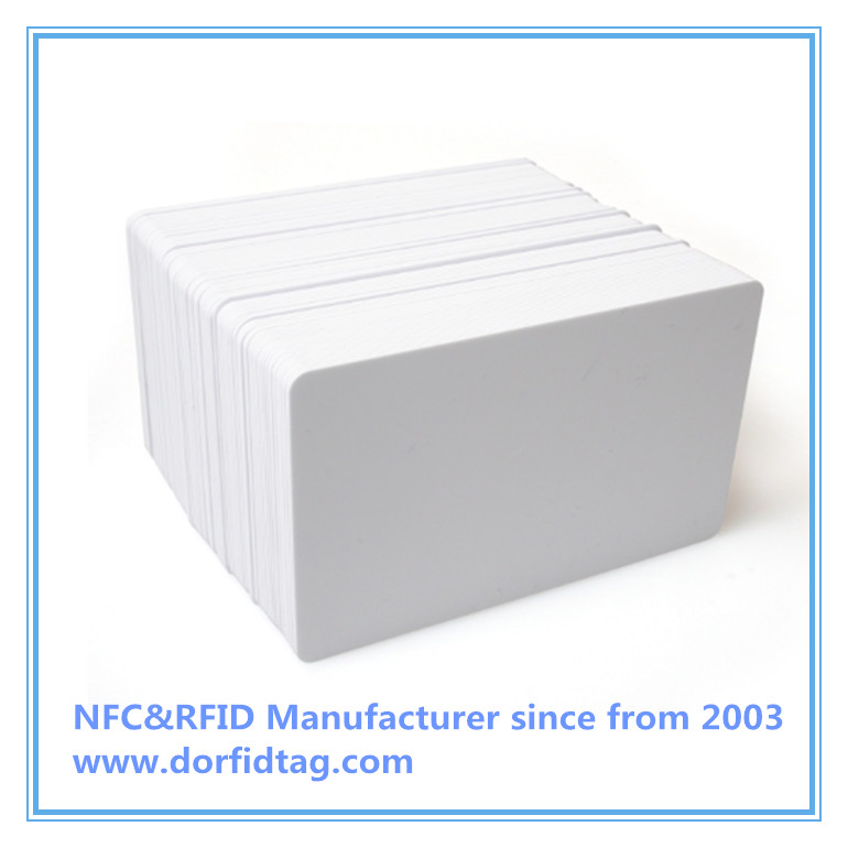 MIFARE PLUS S 4K card manufacturer, 4 BYTE UID card supplier, whie gloss PVC card company